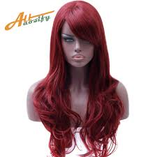 Allaosify <b>Long</b> Wavy Hair Wigs for Women Synthetic Gray Wigs For ...