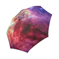 Galaxy Dog Astronaut <b>fashion</b> print cute Windproof <b>automatic</b> tri-fold ...