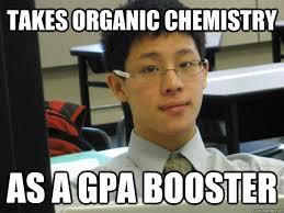 Takes Organic Chemistry As a GPA booster - Phillorgo - quickmeme via Relatably.com
