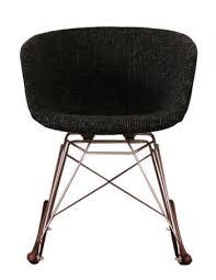 Vogue RAR Walnut <b>Armchair</b> - <b>Black Fabric</b>