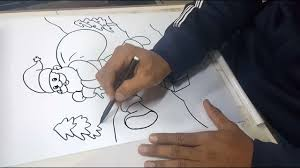 how to draw <b>santa claus</b> with <b>christmas tree</b> step by step for kids ...