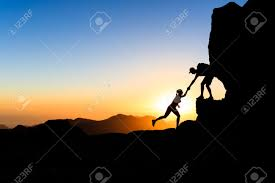 inspiration images stock pictures royalty inspiration inspiration teamwork couple helping hand trust help silhouette in mountains sunset team of