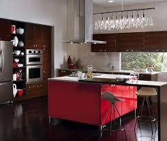 in style kitchen cabinets: european style kitchen with red kitchen cabinets for island kitchen craft cabinetry