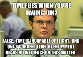 time flies when you're having fun? false. time is incapable of ... via Relatably.com