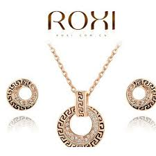 <b>Women's ROXI</b> Antique Round <b>Gold</b> Crystal Retro <b>Jewelry</b> Set ...