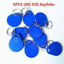 5Pcs/lot <b>13.5MHZ UID Changeable</b> MF <b>S50</b> 1K IC Keys Keyfobs ...