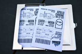 chrome my bags white cover mat print on heavy 250g paper holographic my bags seal boarding pass ticket for the moon includes unlimited streaming of chrome via the