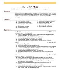 food server resume sample  seangarrette coserver food restaurant resume example emphasis x
