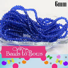 50 Royal Blue <b>6mm Abacus Glass</b> Beads Imitate Austrian Crystal | Etsy