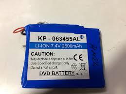 Li-Ion <b>7.4 V 2500 mAh</b> DVD <b>Battery</b>, रिचार्जेबल लिथियम ...