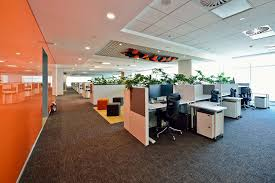 software company office. the vmware office in bengaluru tactfully embraces sustainable features with vibrant colours and a refined layout software company office