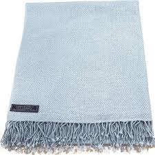 Baby <b>Blue High Grade</b> 100% Cashmere Shawl Wrap Hand Made in ...