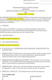 the arizona memorandum of understanding template can help you make arizona memorandum of understanding template
