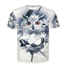 Buy <b>Owl Print</b> Casual <b>Men</b> Short Sleeve <b>T Shirt</b> online - Buy <b>Owl</b> ...