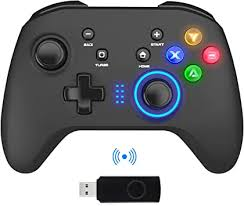 Wireless Gaming <b>Controller</b>, PC Video Gamepad Joystick with Dual ...