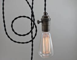 black modern bare bulb pendant light bare bulb lighting