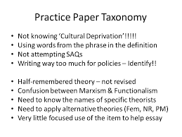 canons park teaching school alliance   using a taxonomy of errors here is another example of a taxonomy of errors this time in response to a collection of timed essays from my as sociology students