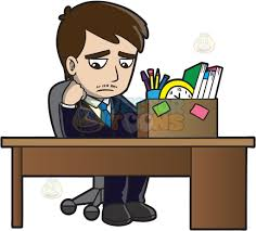 a sad mad sitting at his desk after being fired cartoon clipart a sad mad sitting at his desk after being fired