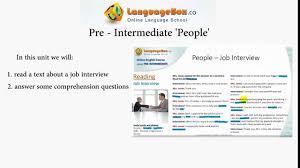 english video course pre intermediate job interview english video course pre intermediate job interview