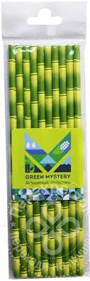 Купить <b>Трубочки бумажные Green Mystery</b> Бамбук 10шт 19.5см с ...