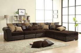 dark brown fabric living room furniture