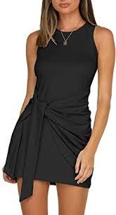 LIYOHON Women's Summer Short Dress Casual Crewneck ...