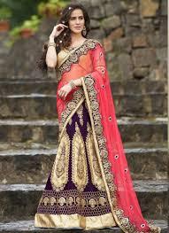 beauteous pink and purple net lehenga saree beauteous pink blue