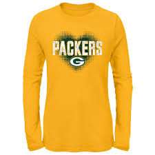 Green Bay Packers <b>Girls</b> Pixel <b>Heart T</b>-<b>Shirt</b> at the Packers Pro Shop