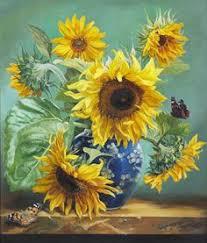 15 Best Sunflower <b>vase</b> images in 2019   <b>Flower</b> art, Sunflower art ...