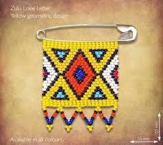 Zulu Love Letter - <b>Yellow Geometric design</b>. Traditional <b>African</b> ...