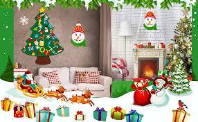 jollylife 3ft DIY Felt Christmas Tree Set Plus Snowman ... - Amazon.com