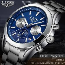 LIGE <b>Watch Men</b> Sport Quartz Clock <b>Mens Watches</b> Brand Luxury ...