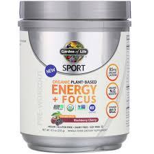 <b>Sport</b>, <b>Organic Plant</b>-<b>Based Energy</b> + Focus, Pre-Workout ...
