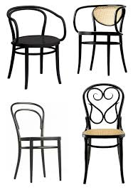 clockwise black bentwood chairs