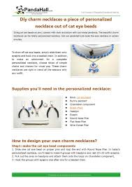 <b>Diy</b> charm necklaces-a <b>piece</b> of personalized necklace out of cat eye ...