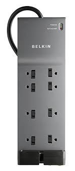 belkin 8 outlet home and office power strip surge protector with 6 foot power belkin office