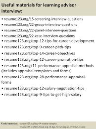 15 career advisor resume