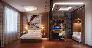 uncategorized impressive bedroom and workspace in same room with wooden floor and wall decor also pillowy is this luxury offices bedroom office luxury home design