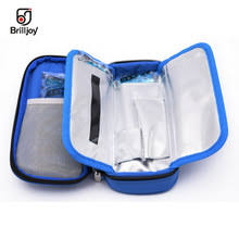 2018new apollo insulin cooler bag aluminum foil ice bag portable insulated diabetic travel case box bolsa termica
