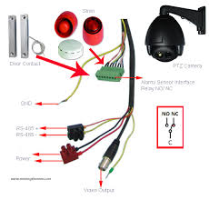 ptz camera connection moving electron ptz alarm sensor interface