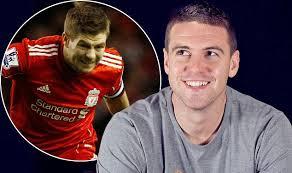 CARLING CUP FINAL 2012: Steven Gerrard and Anthony Gerrard clash ... - article-2106154-11E60A2B000005DC-80_634x375
