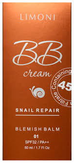 Limoni <b>BB крем Snail</b> Repair SPF 32, 50 мл — купить по выгодной ...