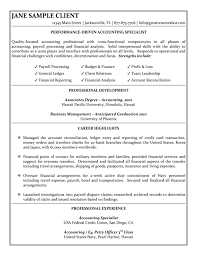 accounting specialist resumefree resume templates  download entry level