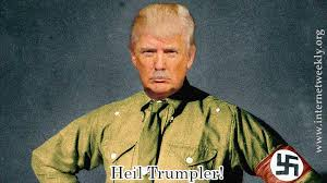 Image result for trump as hitler cartoons
