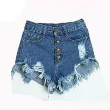 <b>GOPLUS</b> 2018 <b>Summer</b> Women Candy Color Hole <b>Denim Shorts</b> ...