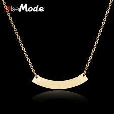 ELSEMODE <b>Personalized Blank Bar</b> Band <b>Pendant Necklace</b> ...