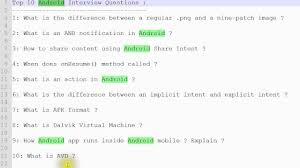 top android interview questions top 10 android interview questions