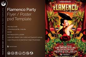 flamenco party flyer template tds psd flyer templates flamenco party flyer template