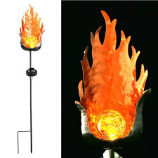 <b>Path Waterproof Solar Flame</b> Shape Activated Yard LED Lamp ...