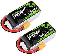 <b>OVONIC</b> 2 Pack <b>22.2V</b> 1000mAh 6S <b>100C</b> XT60 Connector lipo ...